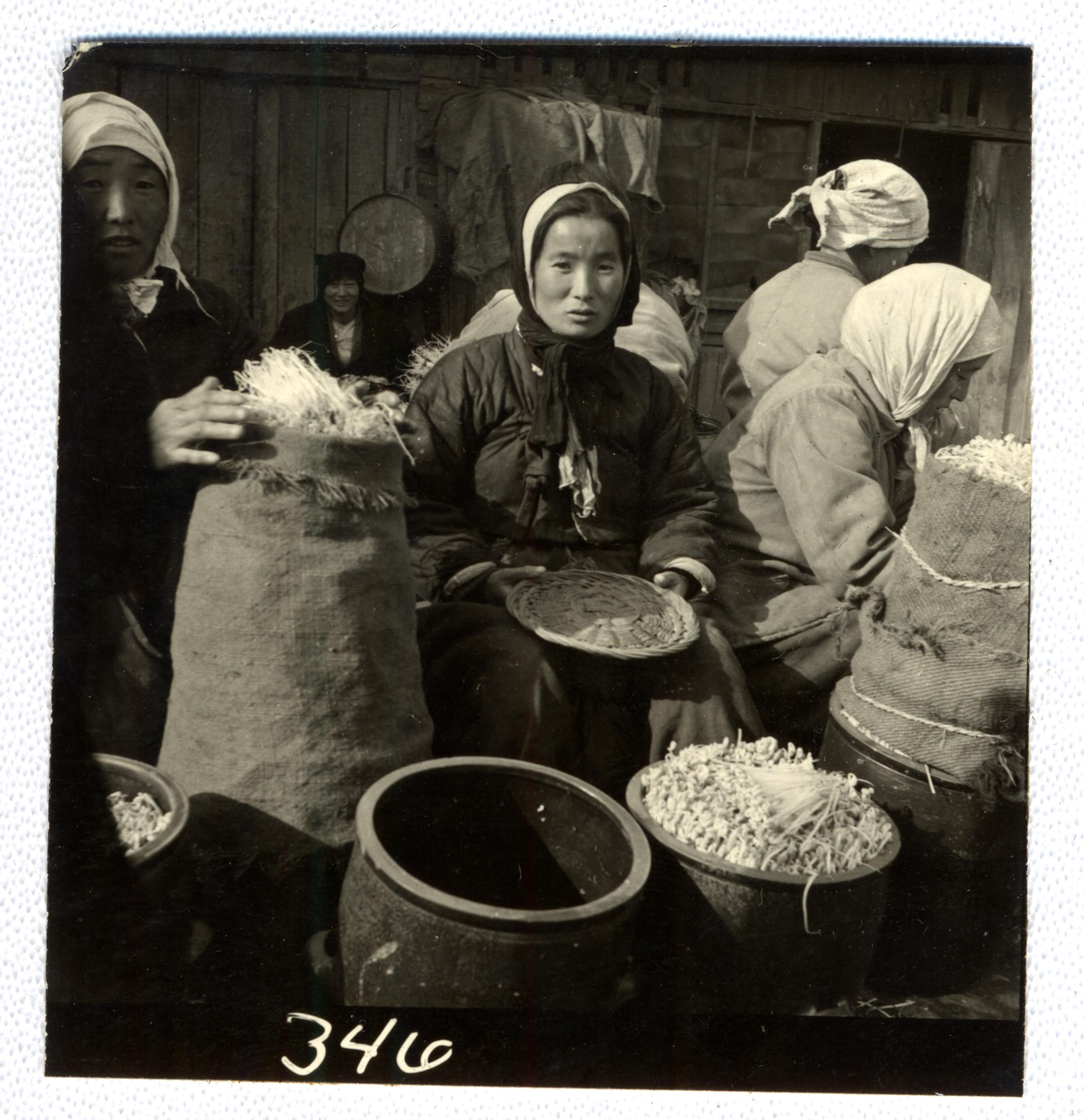 In this photo shows soya beans sold on streets and in the market, are an important food item.