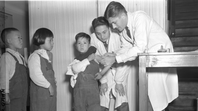 Mass Inoculation of Children at a Tuberculosis Clinic in Shanghai Under the Auspices of UNRRA image