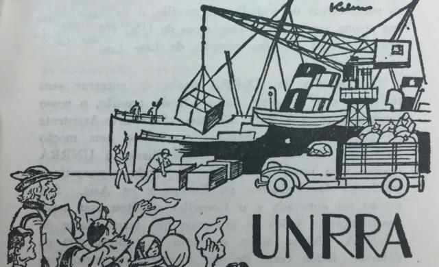 UNRRA, established 9 November 1943, to co-ordinate, administer measures for relief of victims of war